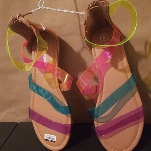 Girls Color band sandals